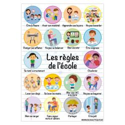 PANNEAU DES REGLES DE L'ECOLE (G1505)
