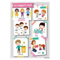 PANNEAU LE RESPECT A L'ECOLE (G1506)