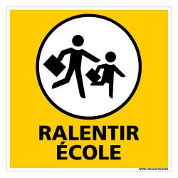 PANNNEAU DE SIGNALISATION RALENTIR ECOLE (L0611)