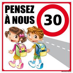 PANNEAU DE SIGNALISATION ECOLE PENSEZ A NOUS (L0613)