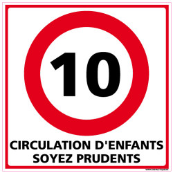 PANNEAU DE SIGNALISATION CIRCULATION D'ENFANTS SOYEZ PRUDENTS (L0617)