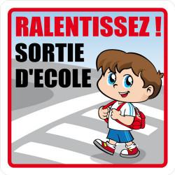 PANNEAU DE SIGNALISATION RALENTISSEZ! SORTIE D'ECOLE (L0624)
