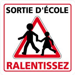 PANNEAU DE SIGNALISATION SORTIE D'ECOLE, RALENTISSEZ (L0627)