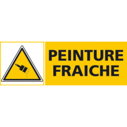 Panneau PEINTURE FRAICHE (C0437)