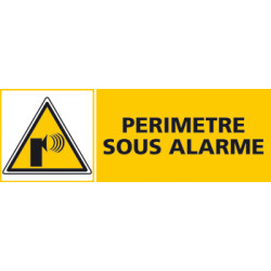 Panneau PERIMETRE SOUS ALARME (C0438)