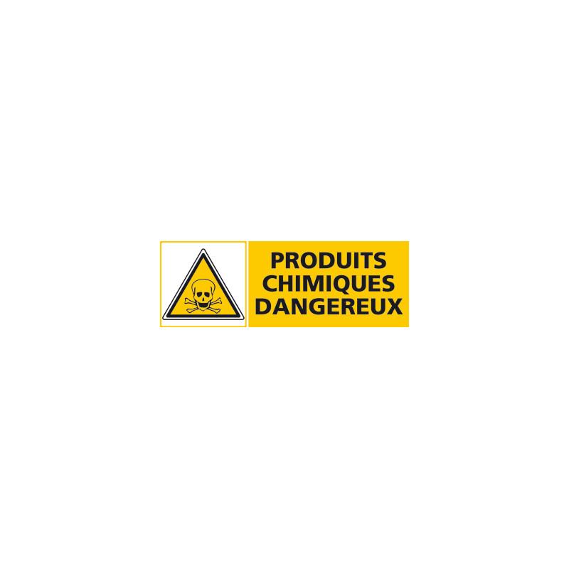Panneau PRODUITS CHIMIQUES DANGEUREUX (C0445)