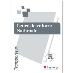LETTRE DE VOITURE NATIONALE