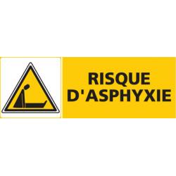 Panneau RISQUE D'ASPHYXIE (C0454)