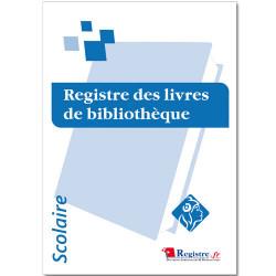 REGISTRE OBLIGATOIRE DES LIVRES DE BIBLIOTHEQUE (RA070)