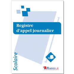 REGISTRE OBLIGATOIRE D'APPEL JOURNALIER (RA072)