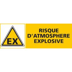 Panneau RISQUE D' ATMOSPHERE EXPLOSIVE (C0455)