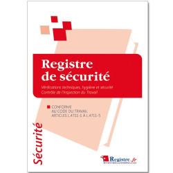 REGISTRE DE SECURITE - CONTR'LE ET VERIFICATION HYGIENE ET SECURITE (RM004)