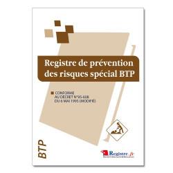 Registre de prévention des risques spécial BTP (RM006)