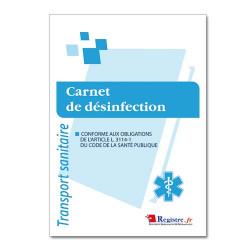 Carnet de désinfection spécial sanitaire (RM008)