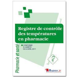 Registre de contrôle des températures en pharmacie (RM011)