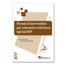 Permis d'intervention par une entreprise extérieure spécial BTP(RM023)