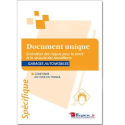 DOCUMENT UNIQUE D'EVALUATION DES RISQUES POUR LA SANTE ET LA SECURITE DES TRAVAILLEURS - GARAGES AUTOMOBILES (RM031)