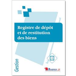 REGISTRE DE DEPOT ET DE RESTITUTION DES BIENS (RM071)