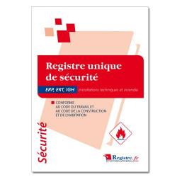 Registre unique de sécurité incendie pour ERP, ERT et IGH (RP001)