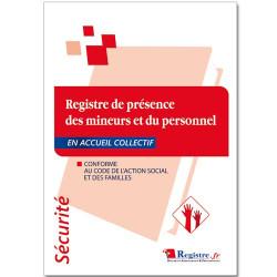 Registre de présence des mineurs et du personnel en accueil collectif (RP010)