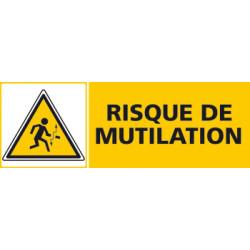 Panneau RISQUE DE MUTILATION (C0462)