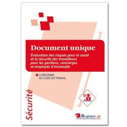 Document unique d'évaluation des risques pour la santé et la sécurité gardien d'immeuble (RP020)