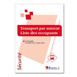 Transport par autocar liste des occupants (RP033)