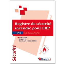 Registre de sécurité incendie pour ERP type L (RP035)