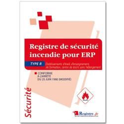 Registre de sécurité incendie pour ERP type R (RP040)