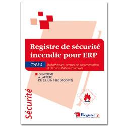 Registre de sécurité incendie pour ERP type S (RP041)