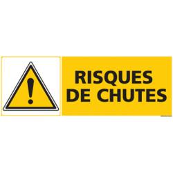 Panneau RISQUES DE CHUTES (C0466)