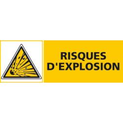 Panneau RISQUES D'EXPLOSION (C0467)