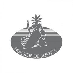 Adhésif sablé Huissier de justice
