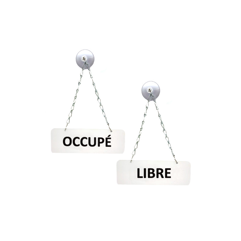PANCARTE INFORMATIVE LIBRE / OCCUPE POUR COMMERCE (WUV0001)