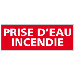 Panneau PRISE D'EAU INCENDIE (A0127)