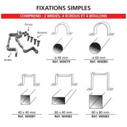 Kit de fixation simples