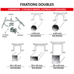 Kit de fixation doubles faces