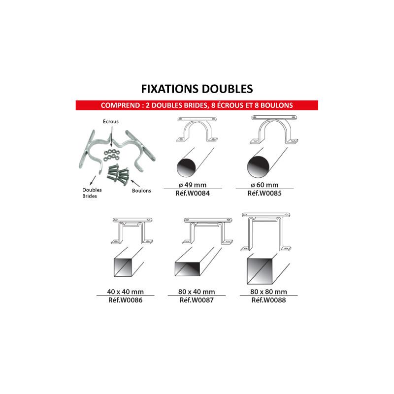 Kit de fixation doubles faces