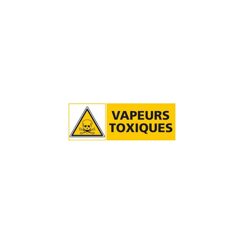 Panneau VAPEURS TOXIQUES (C0481)