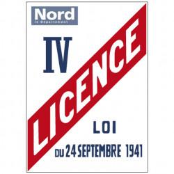 PANNEAU LICENCE IV AVEC LE LOGO DE VOTRE DÉPARTEMENT (G0835_DEP)