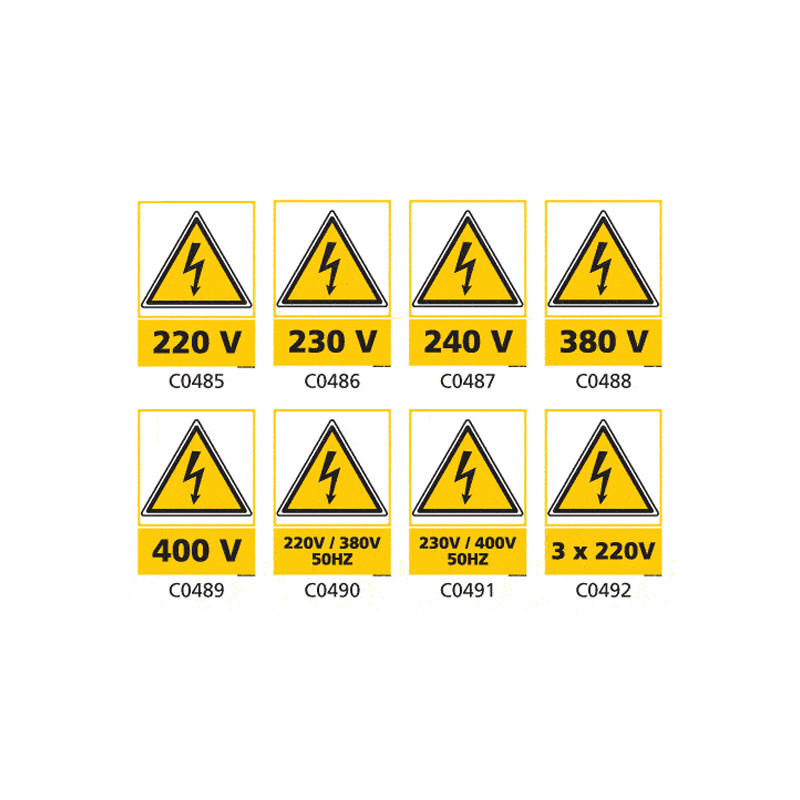 Panneau et Pictogrammes de Signalisation danger electrique