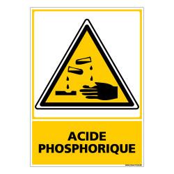 Panneau de Signalisation Danger ACIDE PHOSPHORIQUE (C0504)