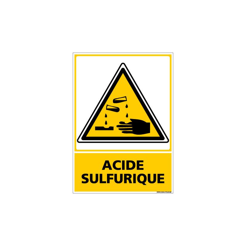 Panneau de Signalisation Danger ACIDE SULFURIQUE (C0505)