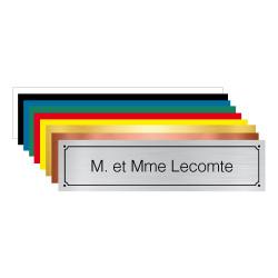 PLAQUE GRAVEE POUR BOÎTE AUX LETTRE PERSONNALISER (BAL0009)