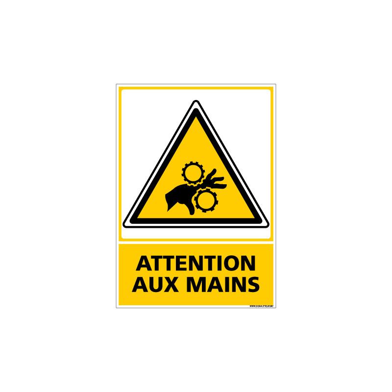 Panneau ATTENTION AUX MAINS (C0515)