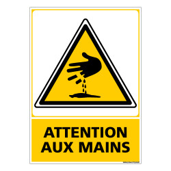 Panneau ATTENTION AUX MAINS (C0516)