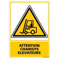 Panneau ATTENTION CHARIOTS ELEVATEURS (C0521)