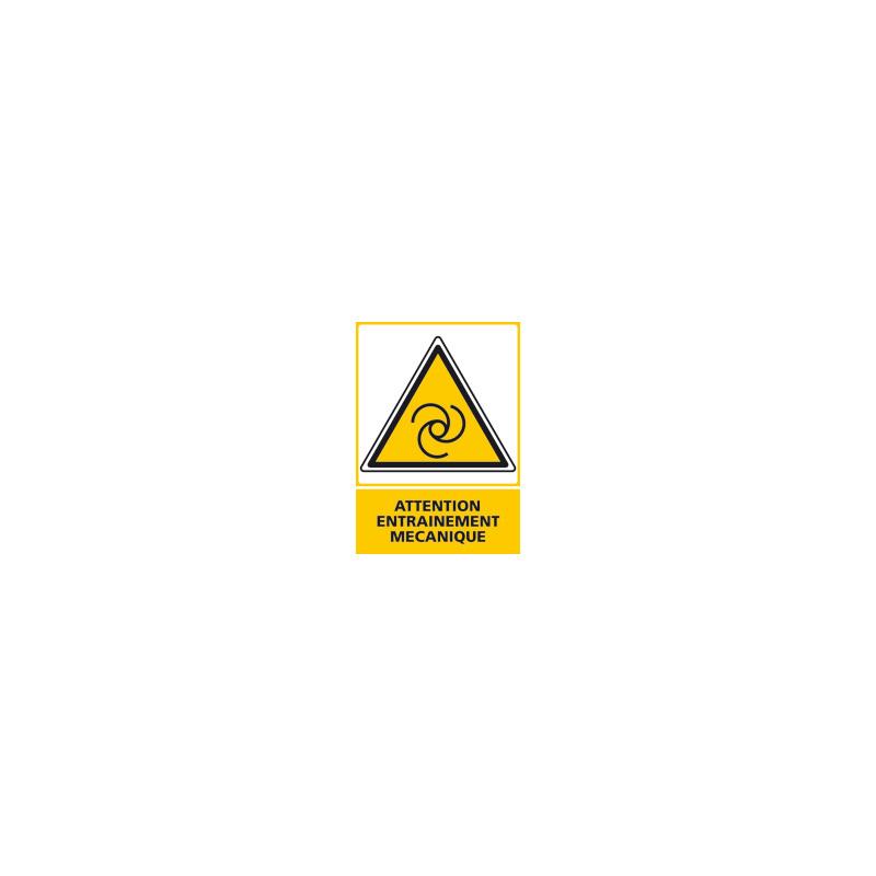 Panneau ATTENTION ENTRAINEMENT MECANIQUE (C0527)
