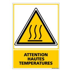 Panneau ATTENTION HAUTES TEMPERATURES (C0528)