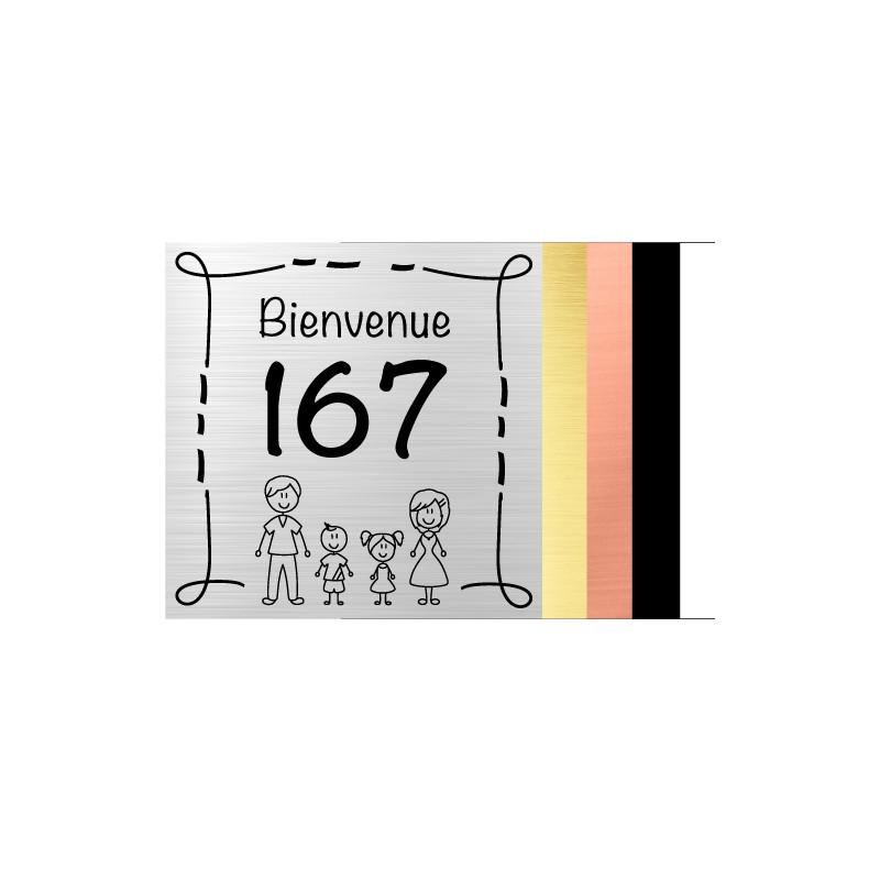 Plaque gravée pour boîte aux lettre - Personnalisable en fonction de votre famille (BAL0021)